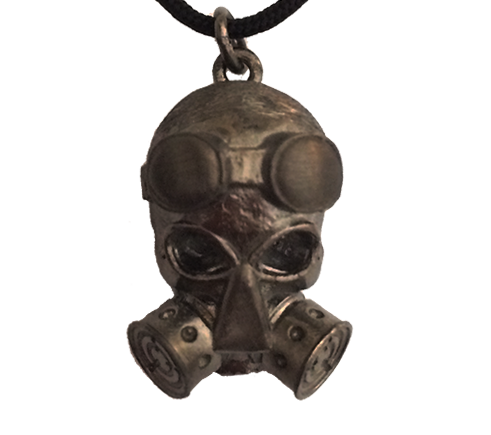 Anarchist Skull Necklace