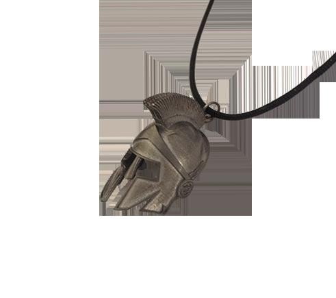 Spartan Warrior Helmet Necklace